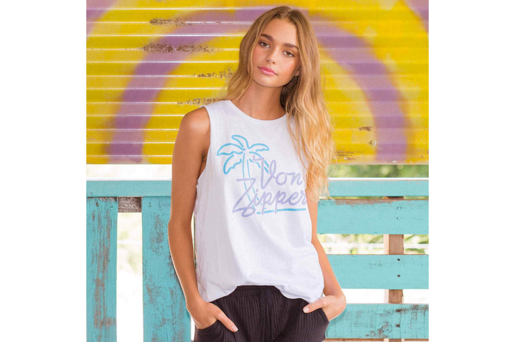VONZIPPER WOMENS MOTEL SLEEVELESS TOP