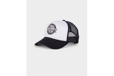 BURNIN TRUCKER CAP BLACK WHITE