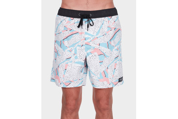 SHREDDED BEACH SHORT WHITE