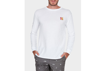 WARPED KITES LS TEE WHITE