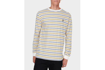SURFSIDE STRIPE LS TEE  SAND