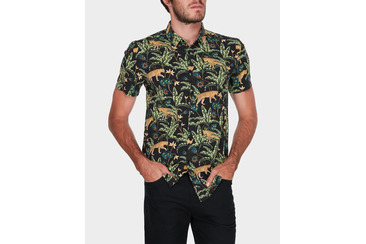 JUNGLE CAT SS SHIRT BLACK
