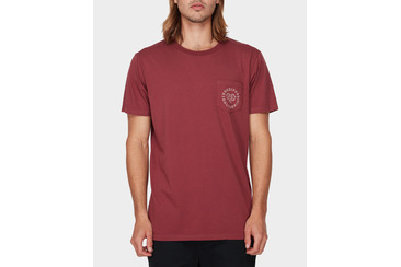SALTY POCKET SS TEE BURGUNDY