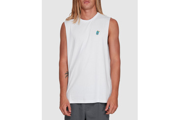 BREWSKI MUSCLE TEE WHITE