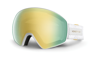 JETPACK SNOW GOGGLES WHITE GLOSS / GOLD CHROME