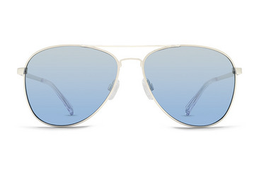 Farva sunglasses  Brushed Silver Satin / Navy