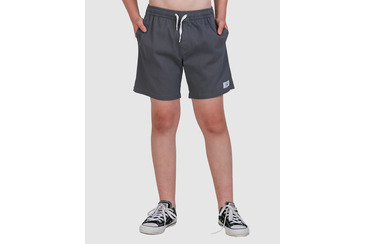 YOUTH TWILL DOGS ELASTIC WAIST SHORT  STORM