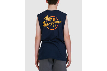 YOUTH SWAE MUSCLE TEE  NAVY