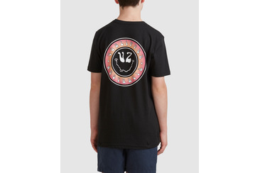 YOUTH SMILES SHORT SLEEVE TEE  BLACK