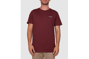 CALYX SHORT SLEEVE TEE BURGUNDY
