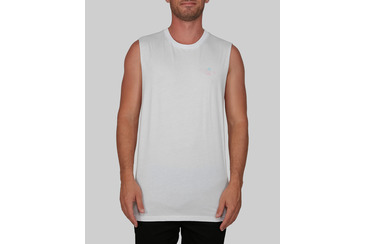 ISLE DAYS MUSCLE TEE WHITE