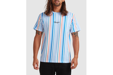 GRAVITY STRIPE SHORT SLEEVE TEE BLUE