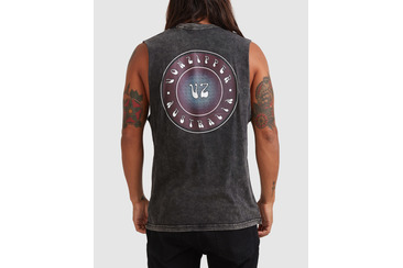 BEAMER MUSCLE TEE BLACK ACID