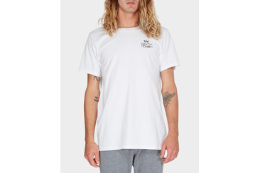 FINS N TINS CLUB TEE WHITE