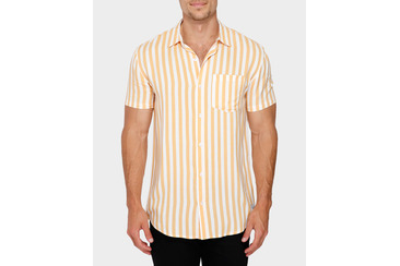 STRAIGHT LINES BUTTON UP SHIRT SAND