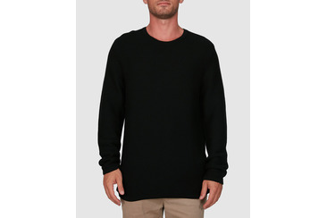 RAVINE KNITTED CREW NECK BLACK