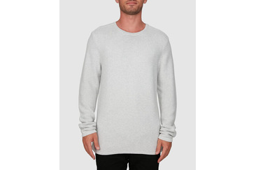 RAVINE KNITTED CREW NECK GREY MARLE
