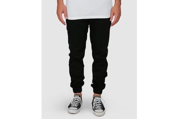 CHILLIN DOG CHINO PANTS  BLACK